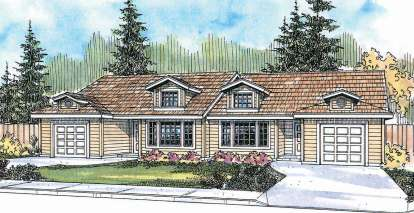 2 Bed, 1 Bath, 932 Square Foot House Plan - #035-00493