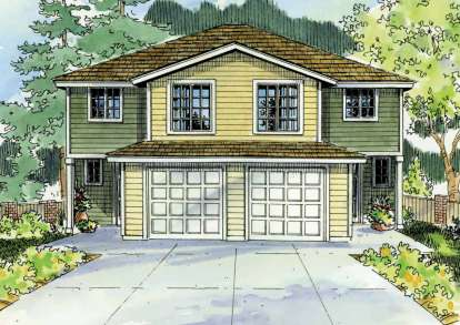 4 Bed, 2 Bath, 1491 Square Foot House Plan - #035-00505