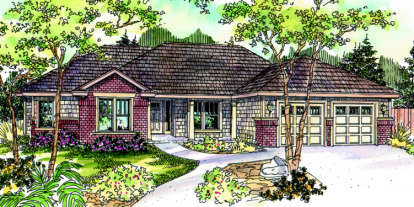 4 Bed, 3 Bath, 2610 Square Foot House Plan - #035-00368