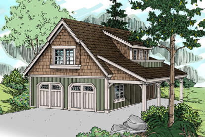 1 Bed, 1 Bath, 1792 Square Foot House Plan - #035-00525