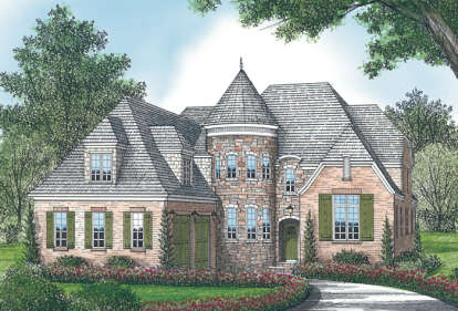 4 Bed, 4 Bath, 4432 Square Foot House Plan - #3323-00450