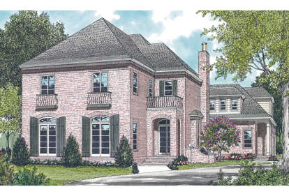 5 Bed, 4 Bath, 4434 Square Foot House Plan - #3323-00451