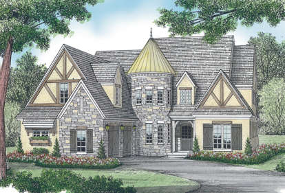 4 Bed, 4 Bath, 4455 Square Foot House Plan - #3323-00454