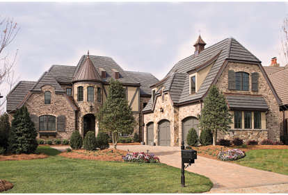 3 Bed, 4 Bath, 4458 Square Foot House Plan - #3323-00455