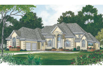 4 Bed, 3 Bath, 4491 Square Foot House Plan - #3323-00462