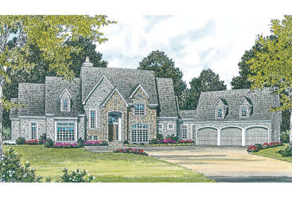 5 Bed, 4 Bath, 6132 Square Foot House Plan - #3323-00465