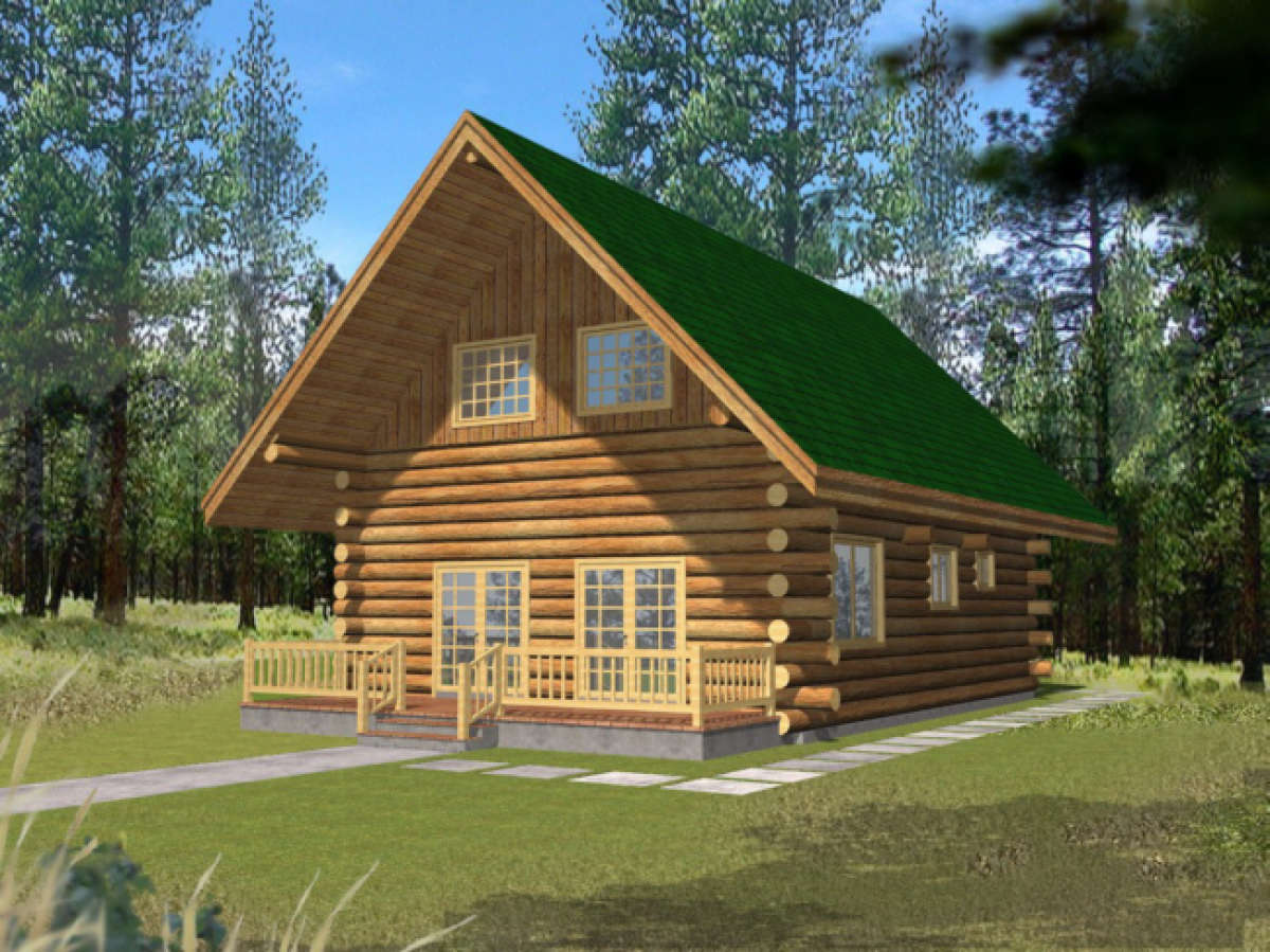 House Plan 039-00060 - Narrow Lot Plan: 1,469 Square Feet, 1 Bedroom, on log home plans wrap around porch, log home plans ranch, log home plans small, log home plans prairie style, log home plans cottage, farmhouse narrow lot, log home plans passive solar,