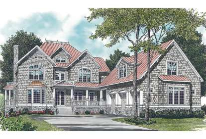6 Bed, 6 Bath, 4685 Square Foot House Plan - #3323-00469