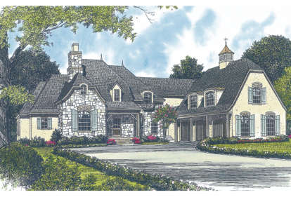 4 Bed, 5 Bath, 4747 Square Foot House Plan - #3323-00473