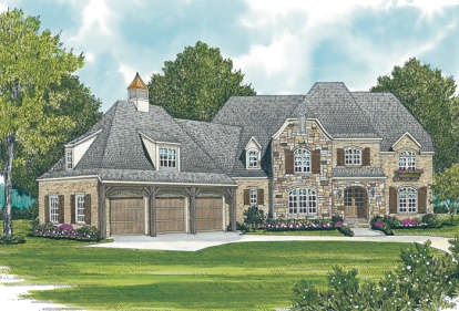 5 Bed, 4 Bath, 4874 Square Foot House Plan - #3323-00476