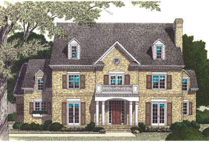 5 Bed, 5 Bath, 5148 Square Foot House Plan - #3323-00480
