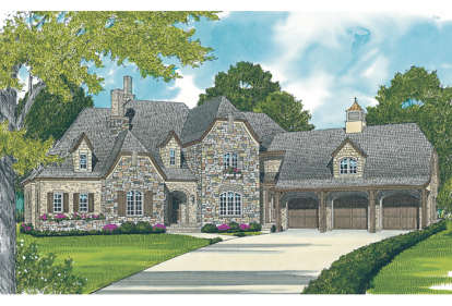 4 Bed, 3 Bath, 4971 Square Foot House Plan - #3323-00487