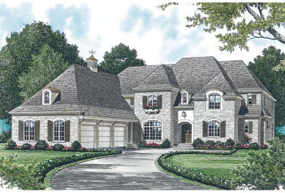 4 Bed, 3 Bath, 5093 Square Foot House Plan - #3323-00492