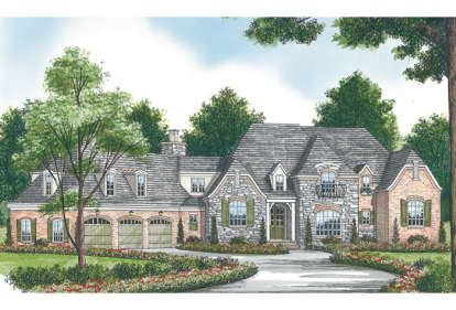 5 Bed, 6 Bath, 6958 Square Foot House Plan - #3323-00494