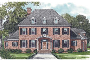 Colonial House Plan #3323-00501 Elevation Photo