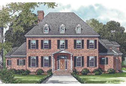 5 Bed, 5 Bath, 5199 Square Foot House Plan #3323-00501