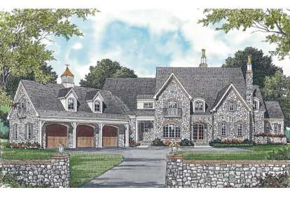 4 Bed, 4 Bath, 5409 Square Foot House Plan - #3323-00510