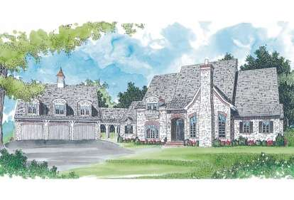 5 Bed, 5 Bath, 5426 Square Foot House Plan - #3323-00511