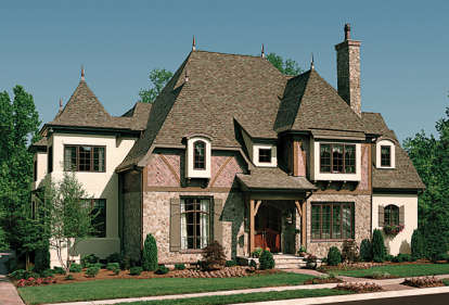 5 Bed, 5 Bath, 5448 Square Foot House Plan - #3323-00514