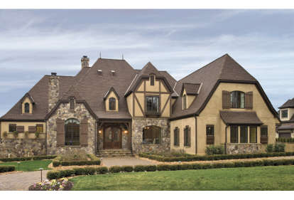 4 Bed, 4 Bath, 5495 Square Foot House Plan - #3323-00516