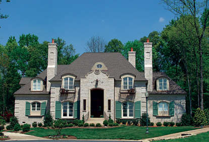 4 Bed, 5 Bath, 5496 Square Foot House Plan - #3323-00517