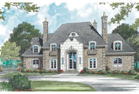 French Country House Plan #3323-00517 Elevation Photo