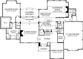 Floorplan 1 for House Plan #3323-00519