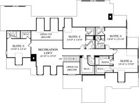 Floorplan 2 for House Plan #3323-00519
