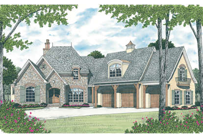 4 Bed, 4 Bath, 5642 Square Foot House Plan - #3323-00522