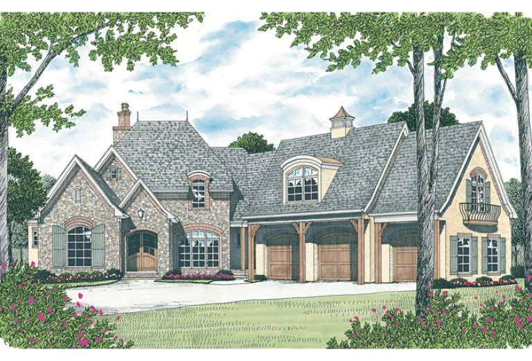 Lake Front House Plan #3323-00522 Elevation Photo