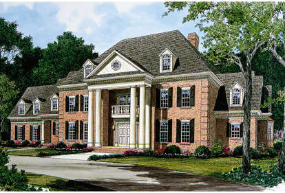 5 Bed, 4 Bath, 5717 Square Foot House Plan - #3323-00524