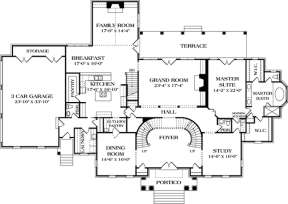 Floorplan 1 for House Plan #3323-00524