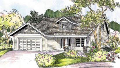 3 Bed, 2 Bath, 1599 Square Foot House Plan - #035-00371