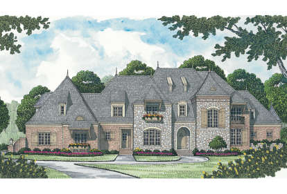 5 Bed, 5 Bath, 6812 Square Foot House Plan - #3323-00537