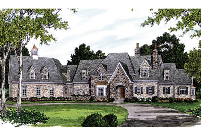 5 Bed, 6 Bath, 6432 Square Foot House Plan - #3323-00538