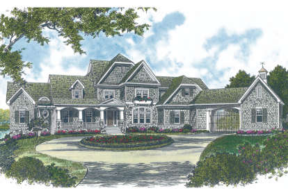 5 Bed, 6 Bath, 8173 Square Foot House Plan #3323-00539