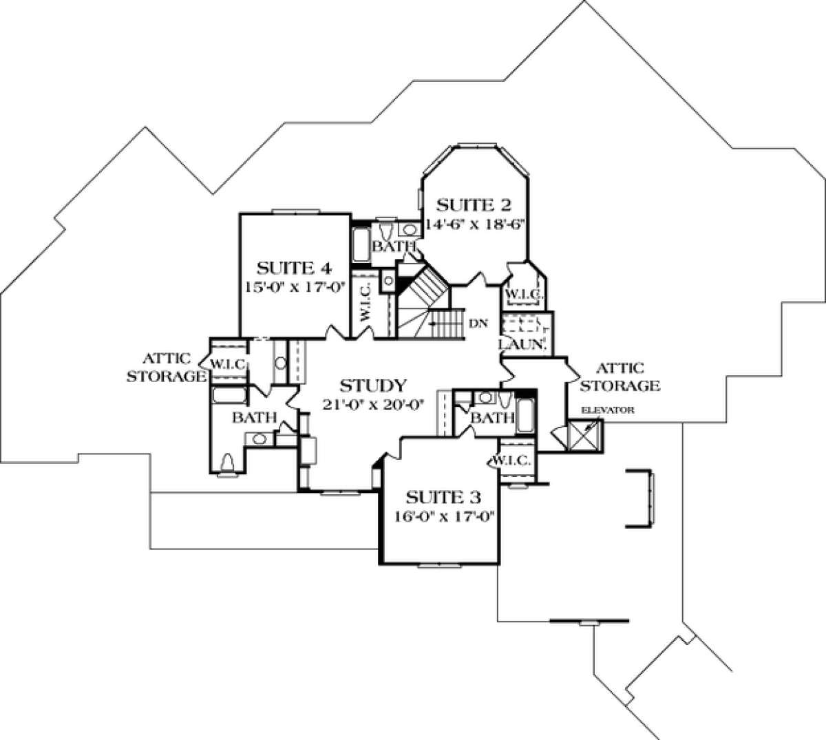 craftsman plan 8 173 square feet 5 bedrooms 7 bathrooms