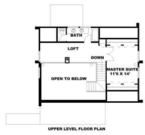 Second Floor for House Plan #039-00064