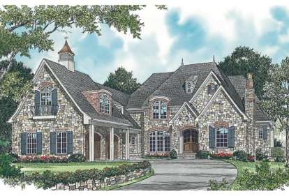 5 Bed, 5 Bath, 7044 Square Foot House Plan - #3323-00550