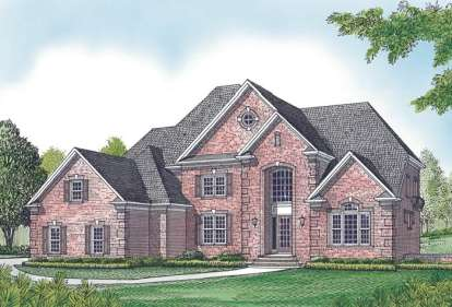4 Bed, 5 Bath, 7060 Square Foot House Plan - #3323-00551