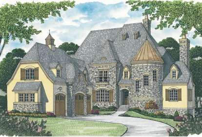 4 Bed, 4 Bath, 7428 Square Foot House Plan - #3323-00553