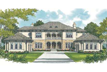 5 Bed, 5 Bath, 7808 Square Foot House Plan - #3323-00555