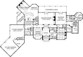 Floorplan 1 for House Plan #3323-00562