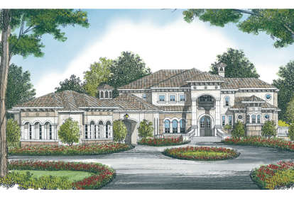 5 Bed, 7 Bath, 9859 Square Foot House Plan - #3323-00563