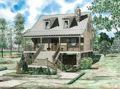 2 Bed, 2 Bath, 1400 Square Foot House Plan - #110-00843