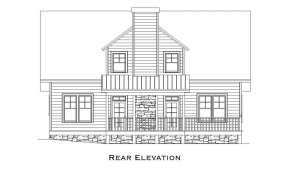 Lake Front House Plan #957-00029 Elevation Photo