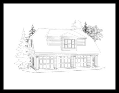 1 Bed, 1 Bath, 653 Square Foot House Plan - #957-00037