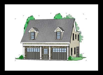 2 Bed, 1 Bath, 1208 Square Foot House Plan #957-00038