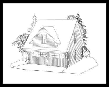 1 Bed, 1 Bath, 507 Square Foot House Plan #957-00040