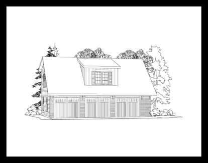 1 Bed, 1 Bath, 650 Square Foot House Plan #957-00042